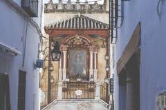 CÓRDOBA - ESPAÑA - 10 DE JUNIO DE 2016: Architetcture tradicional en el Co Fotografía de archivo libre de regalías