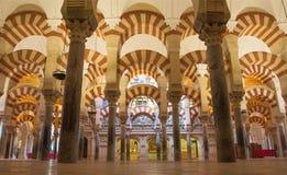 Córdoba - los cubos de Abd-AR-Rahman I en la catedral Fotografía de archivo libre de regalías