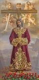 Córdoba - típicamente la estatua de Cristo concedido en enlace en la iglesia Convento de Capuchinos (Iglesia Santo Angel) imágenes de archivo libres de regalías