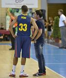 CÓRDOVA, ESPANHA - 14 DE SETEMBRO: STEFAN PENO B (33) na ação durante o FC Barcelona do fósforo (b) contra os CB Sevilha (g) (91- Fotografia de Stock