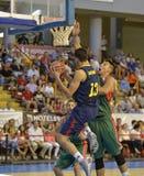 CÓRDOVA, ESPANHA - 14 DE SETEMBRO: TOMAS SATORANSKY B (13) na ação durante o FC Barcelona do fósforo (b) contra os CB Sevilha (g) Fotografia de Stock