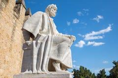 Córdova - a estátua do filósofo árabe medieval Averroes Imagem de Stock Royalty Free