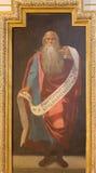 Córdova - fresco do profeta Isaiah dentro na igreja Iglesia de San Agostinho de 17 centavo por Cristobal Vela e por Juan Luis Zam Fotografia de Stock