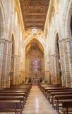 Córdova - a nave gótico da igreja medieval Iglesia de San Lorenzo Fotos de Stock Royalty Free