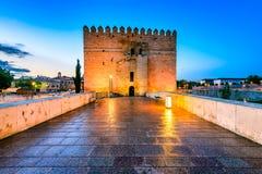 Córdova - Roman Bridge, a Andaluzia, Espanha Imagem de Stock Royalty Free