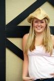 córka rolnicy pionowe Zdjęcie Royalty Free