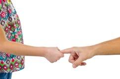 Córka trzyma rękę futher Obrazy Royalty Free