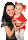 córki matka szczęśliwa mała Zdjęcie Royalty Free