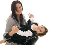 córki matki bawić się Zdjęcie Stock