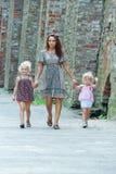 córki plenerowa jej matka Fotografia Royalty Free