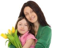 córki przytulenia matka zdjęcie royalty free
