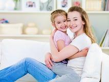 córki szczęścia matka obrazy stock