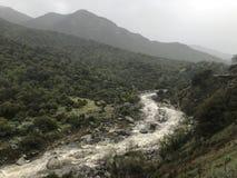Córrego através da serra montanhas Foto de Stock