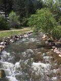 Córrego bonito da montanha fotografia de stock