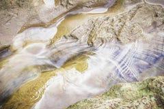 Córrego da água que flui no rio em Suratthani Imagem de Stock Royalty Free