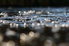 Córrego da angra do rio da textura Imagens de Stock