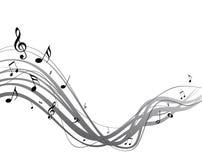 Córrego da música do vetor Foto de Stock