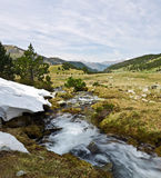 Córrego da mola do rio de Perafita na parte superior do vale Imagens de Stock