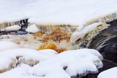 Córrego da montanha da mola Fotos de Stock