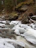 Córrego da montanha do inverno imagem de stock royalty free