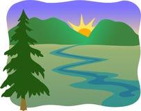 Córrego da montanha/eps ilustração royalty free