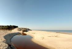 Córrego da praia. Foto de Stock