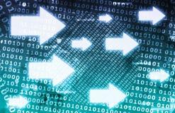 Córrego de dados binários Imagens de Stock Royalty Free