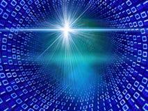 Córrego de dados binários Fotos de Stock
