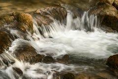 Córrego de fluxo rápido da montanha Imagem de Stock