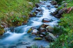 Córrego de gorgolejamento da montanha Fotografia de Stock