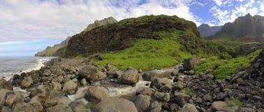 Córrego de Kalalau Fotos de Stock