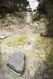 Córrego de mineral vulcânico Imagem de Stock