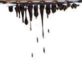 Córrego do chocolate quente fotografia de stock