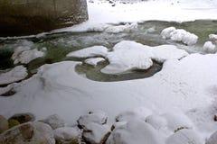 Córrego do inverno imagens de stock royalty free