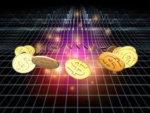 Córrego dourado do dólar Imagem de Stock Royalty Free