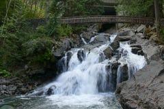 Córrego e cachoeira Imagens de Stock Royalty Free