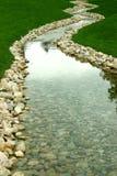 Córrego e rio da perspectiva Foto de Stock Royalty Free