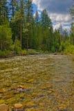 Córrego elevado do país Fotografia de Stock