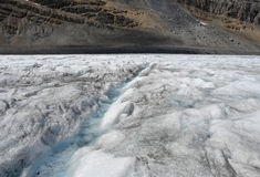 Córrego em uma geleira Foto de Stock Royalty Free