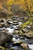 Córrego fumarento da queda da montanha Fotografia de Stock Royalty Free