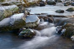 Córrego gelado imagem de stock