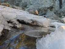 Córrego gelado Fotos de Stock Royalty Free