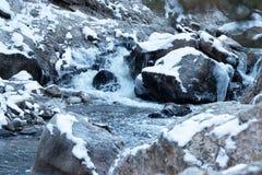 Córrego nevado fotografia de stock