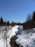 Córrego no inverno Fotografia de Stock Royalty Free