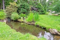 Córrego no jardim Imagem de Stock Royalty Free