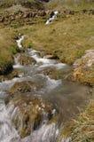 Córrego no vale fotografia de stock