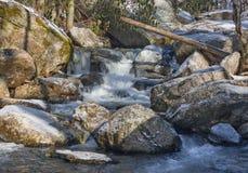 Córrego puro da montanha Foto de Stock