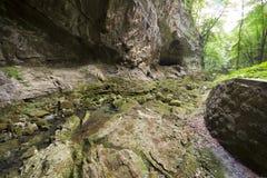 Córrego seco da montanha Fotos de Stock Royalty Free