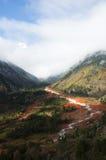 Córrego vermelho da rocha Imagem de Stock