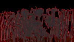 C?rregos de espirrar o sangue org?nico com o canal alfa para VFX, cenas do crime, filmes de terror e Dia das Bruxas ilustração royalty free